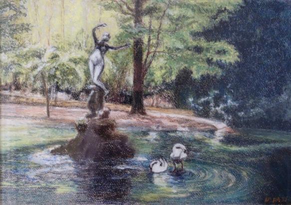 Avignon Gardens - Pastel