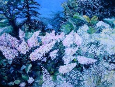 Hydrangeas, Wisley - Watercolour