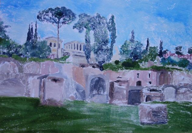 Rome Forum - Monoprint