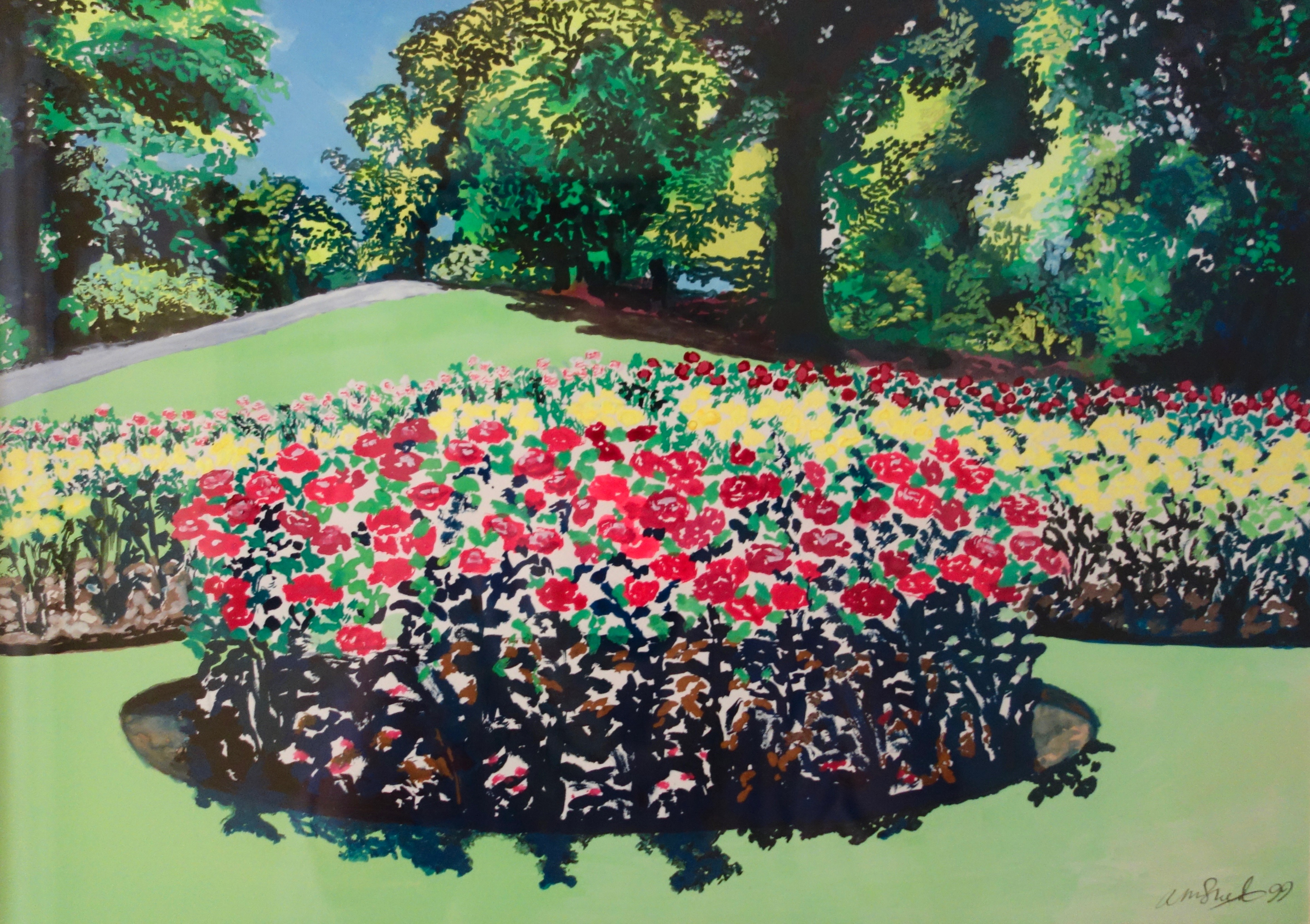 Pembroke, Richmond Park: Gouache