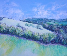 Box Hill, Surrey - Oil Pastels