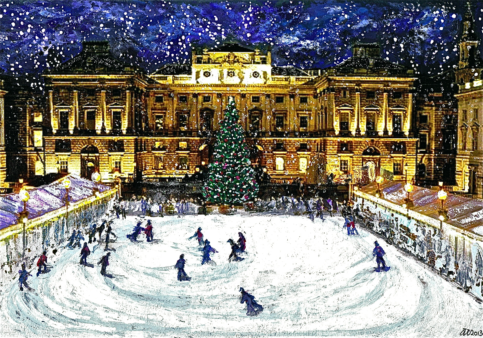 Somerset House Skaters: Mixed Media