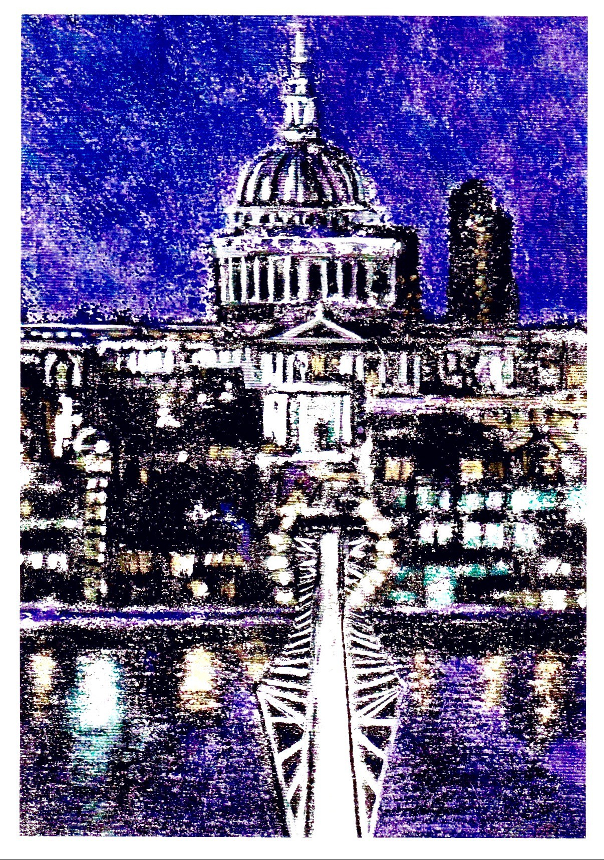 Millennium Bridge: Monoprint