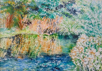 Wetlands, Barnes, London - Watercolour