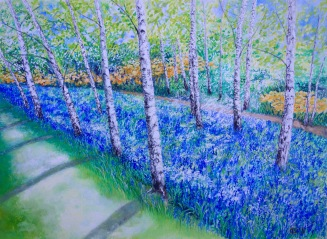 Bluebells, Wisley - Watercolour